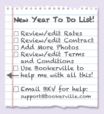 Bookerville's New Year to do list